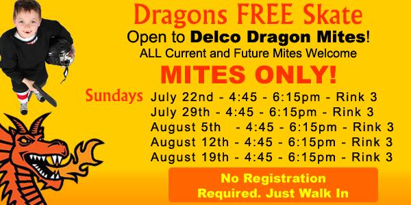 Delco Dragons FREE Skate @ IceWorks | Aston | Pennsylvania | United States