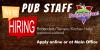Job Opportunities – Pub & Grill – Bartenders/Servers/Kitchen