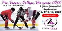 IceWorks Pre-Season College DII & DIII Club Showcase 2022